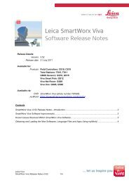 Leica SmartWorx Viva Software Release Notes - Leica Geosystems