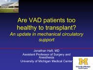 Are VAD patients Too Healthy to Ttransplant?