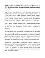 Palabras de bienvenida del Dip. Ernesto Ruiz Velasco de Lira ...