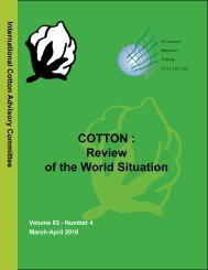 COTTON : Review of the World Situation