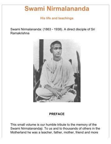 Swami Nirmalananda - His life and teachings - Swami Vivekananda