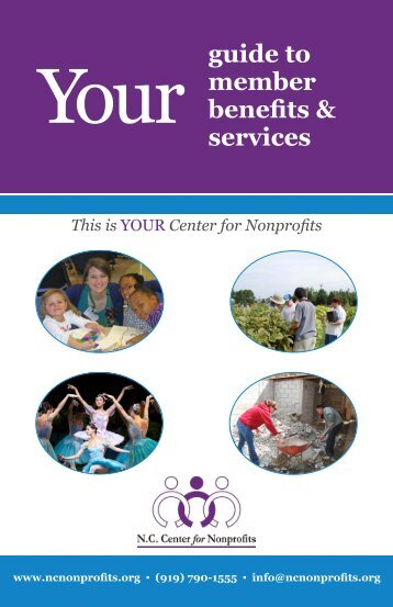 Guide to Member Benefits & Services - NC Center for Nonprofits