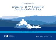 Europe's No. 1 EFP™* Pharmaceutical Grade Deep Sea Fish Oil ...