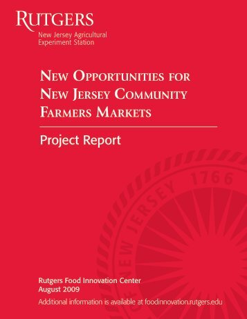 Report - Rutgers Food Innovation Center - Rutgers, The State ...