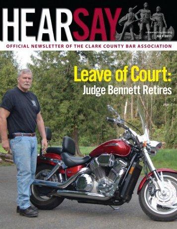 July 2011 Hearsay - Clark County Bar Association