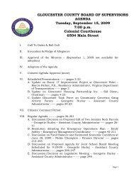 board agenda item - Gloucester County Virginia