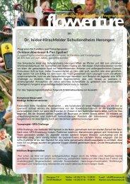 Wochenend-Programm Flowventure - Dr. Isidor-Hirschfelder ...