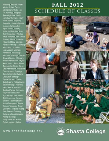 FALL 2012 - Shasta College