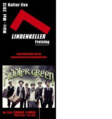 Programmheft März - Mai 2013 - Lindenkeller