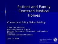 Patient and Family Centered Medical Homes - Connecticut Health ...