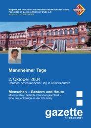 Mannheimer Tage - Verband der Deutsch-Amerikanischen Clubs