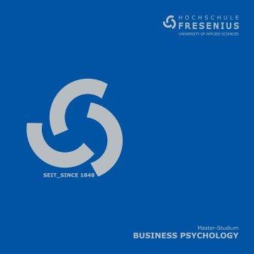 Business Psychology - Hochschule Fresenius