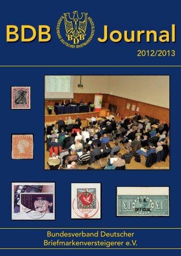 BDB Journal - Bundesverband Deutscher Briefmarkenversteigerer eV