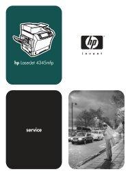 HP LaserJet 4345mfp Series Service Manual - ENWW