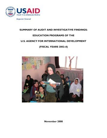 Summary of Audit and Investigative Findings: Education Programs