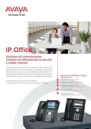 Ip Office Rel. 8 - Brochure - Westcon Convergence Italy
