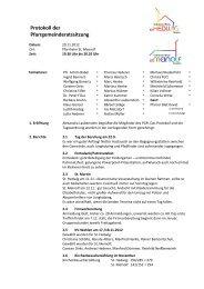 Protokoll der Pfarrgemeinderatssitzung - St. Meinolf