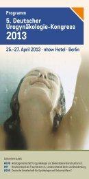 5. Deutscher Urogynäkologie-Kongress 2013 ... - comaug.de