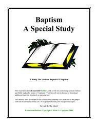 Baptism A Special Study - Executable Outlines