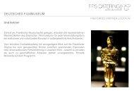 DEUTSCHES FILMMUSEUM - FPS Catering