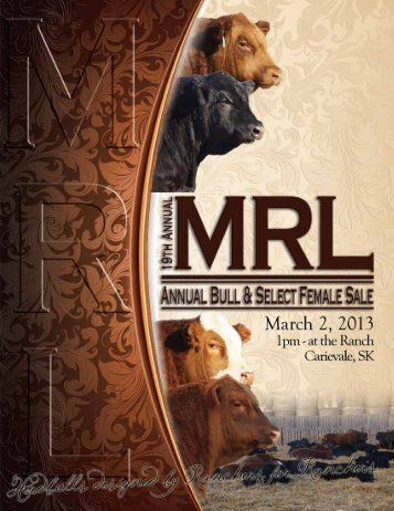 Sale :: March 2, 2013 - Bouchard Livestock International