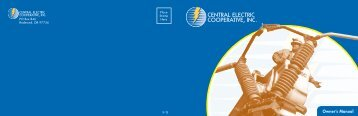 CEC Members Owner's Manual - Central Electric Cooperative