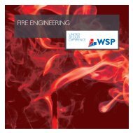 FIRE ENgINEERINg - WSP Group