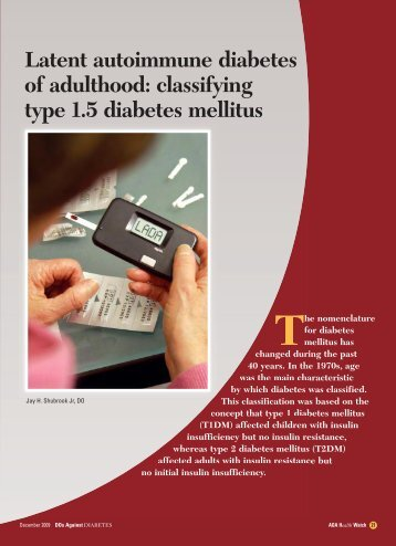 Latent autoimmune diabetes of adulthood: classifying type ... - CECity
