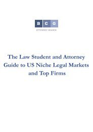The Law Student and Attorney Guide to US Niche ... - Legal Recruiters