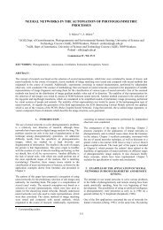 neural networks in the automation of photogrammetric ... - ISPRS