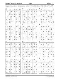 Sudoku - Meget let - Bogstaver Navn: Klasse - GratisSkole.dk
