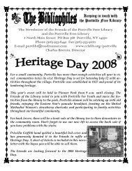 Keeping in touch with the Portville Free Library The Newsletter of the ...