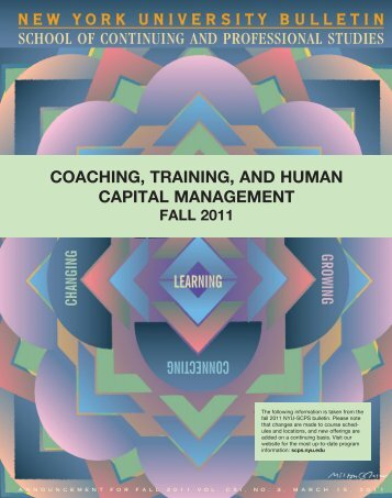 coaching, training, and human capital management - School of ...