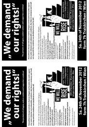 W e demand our righ ts! - No Racism