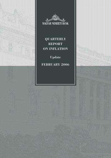 Quarterly Report on Inflation February 2006 - EPA