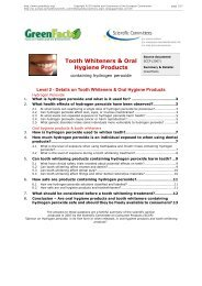Tooth Whiteners & Oral Hygiene Products ... - Co-Publications