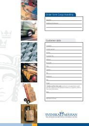 Customer data Order form Cargo Handling
