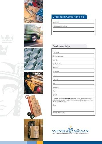 Customer data Order form Cargo Handling