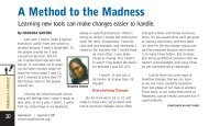 A Method to the Madness - Transitions and Social Change