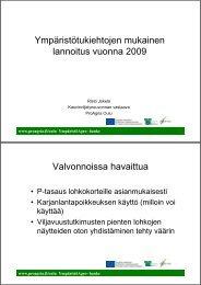 01.10.2009 Ympäristötukiehtojen mukainen ... - ProAgria Oulu