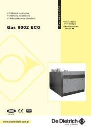 Instrukcja Techniczna GAS 6002 ECO - De Dietrich