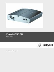 VideoJet X10 SN - Bosch Security Systems
