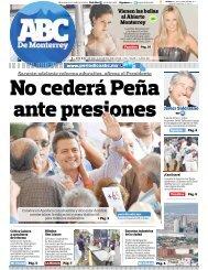 No cederá Peña ante presiones - Periodicoabc.mx
