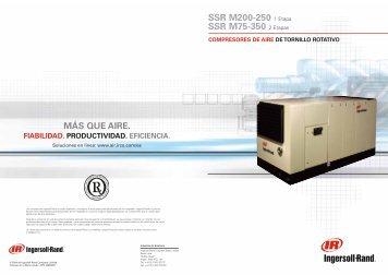 compresores de aire de tornillo rotativo ssr m200-250 - Ingersoll Rand