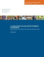 A Case Study of Aid Effectiveness in Ethiopia - Brookings Institution