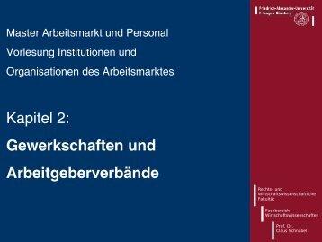Typische Studie: Schnabel / Wagner (2005)