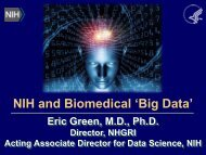 Big Data - Advisory Committee to the Director - National Institutes of ...