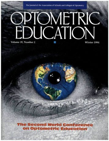The Second world Conference on Optometric Education