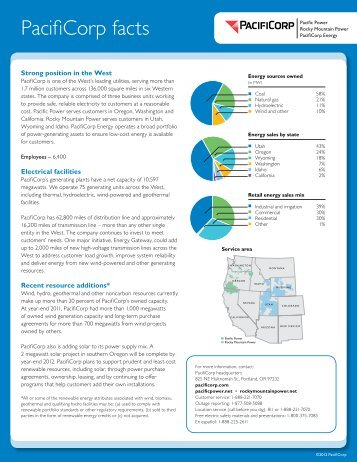 PacifiCorp facts - Rocky Mountain Power