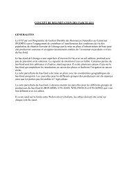 CONCEPT DE DELIMITATION DES PARCELLES